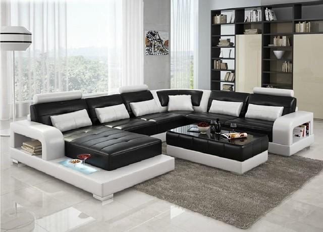 6145 Divani Casa Modern Leather Sectional Sofa Modern