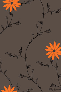 Pop daisy dark wall mural contemporary wallpaper by for Daisy fuentes wall mural