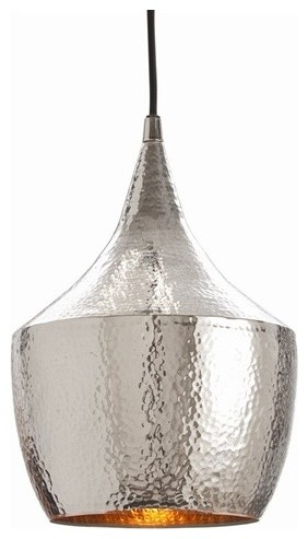 Hayden Hammered Silver Pendant By Arteriors Home