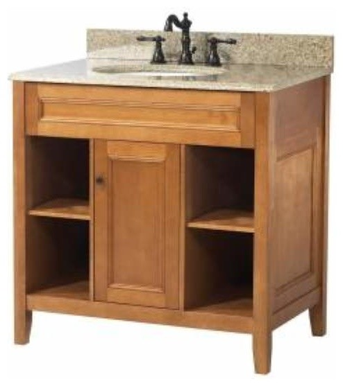 Foremost exhibit 30 inch vanity in rich cinnamon maple for Bathroom cabinets 30 inch