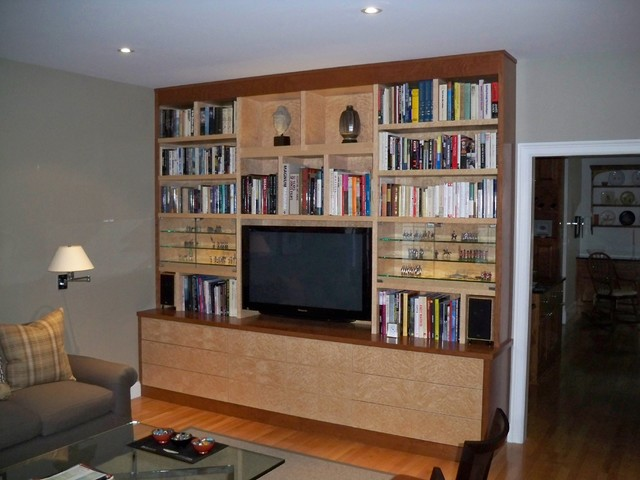 Custom Built In Media Center Modern Living Room Boston By The Orpin Group Interior Design