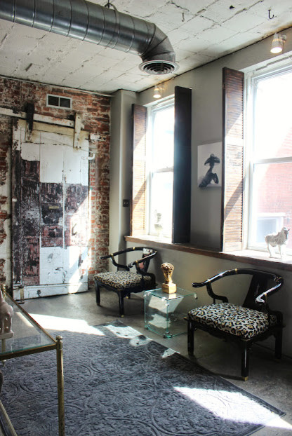 Pittsburgh Loft Industrial Entry Other Metro By Morgan Peyton Interiors