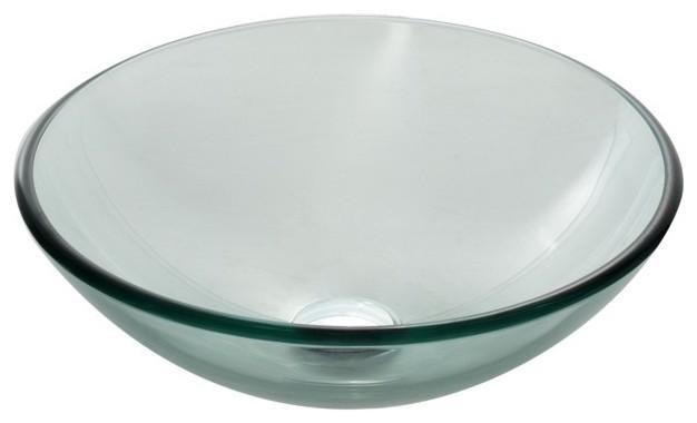 New 12 Modern Contemporary Bathroom Faucet Vessel Sink: Kraus GV-101 Clear Glass Vessel Sink