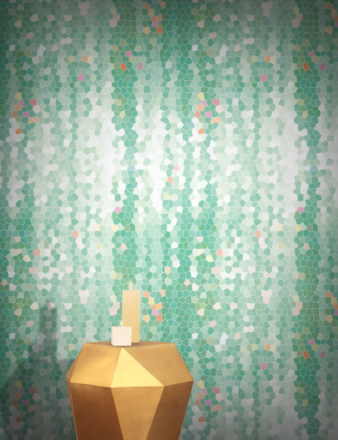 Firefly by yuexin du mint scandinavian wallpaper Scandinavian wallpaper and decor
