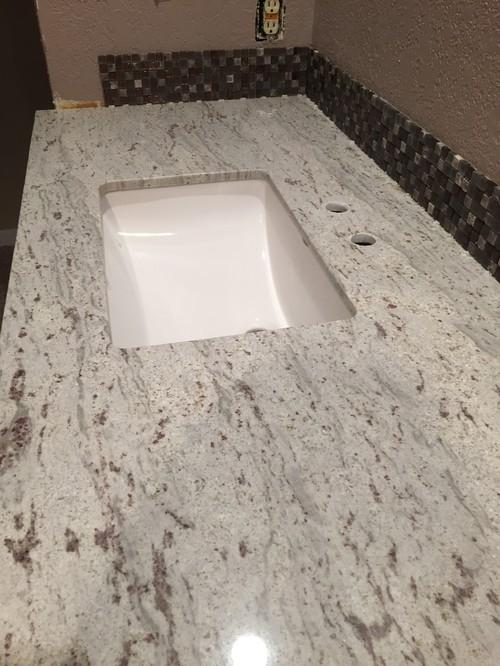 Granite countertops installed with too much overhang - Average cost granite bathroom countertops ...