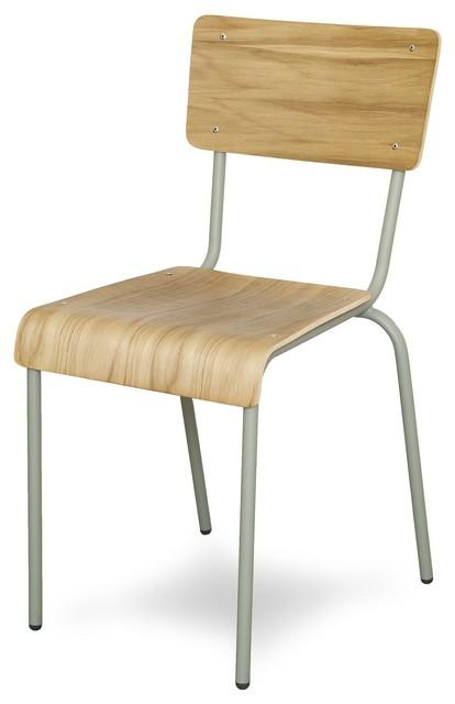 ikon chaise style colier taupe et ch ne h73cm contemporain chaise de salle manger par. Black Bedroom Furniture Sets. Home Design Ideas