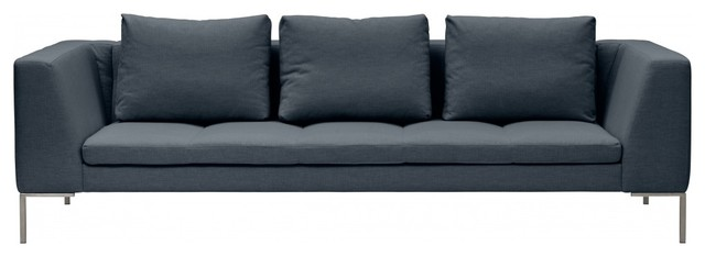 3sitzer sofa madison grau modern sofas by moderne sofakollektionen. Black Bedroom Furniture Sets. Home Design Ideas