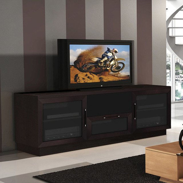 contemporary 60 inch wenge finish tv and entertainment. Black Bedroom Furniture Sets. Home Design Ideas