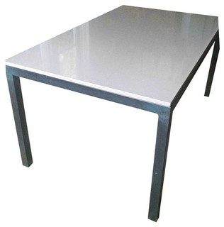 Room board parsons quartz table 60 39 x36 39 contemporary for Dining room table 60 x 36