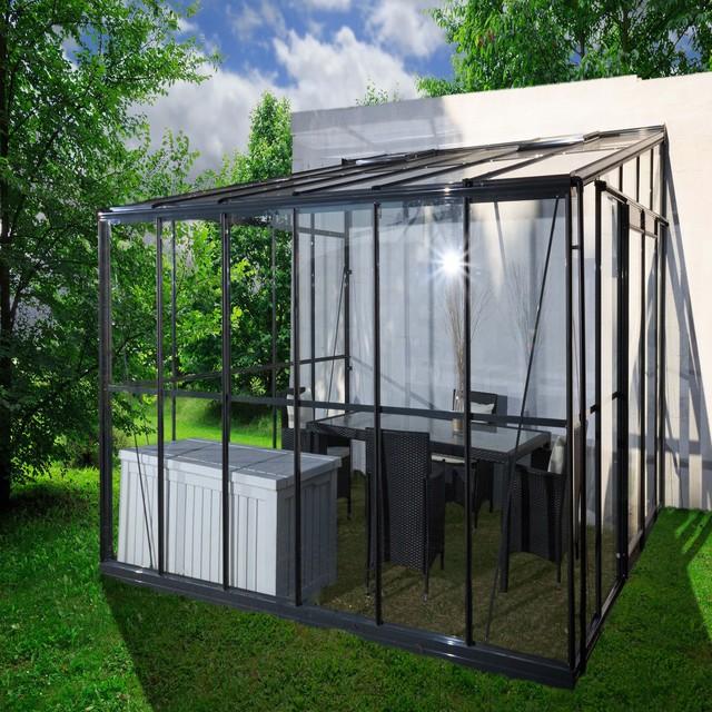 serre serre jardin d 39 hiver 11 85m2 de surface au sol contemporain serre par alin a. Black Bedroom Furniture Sets. Home Design Ideas