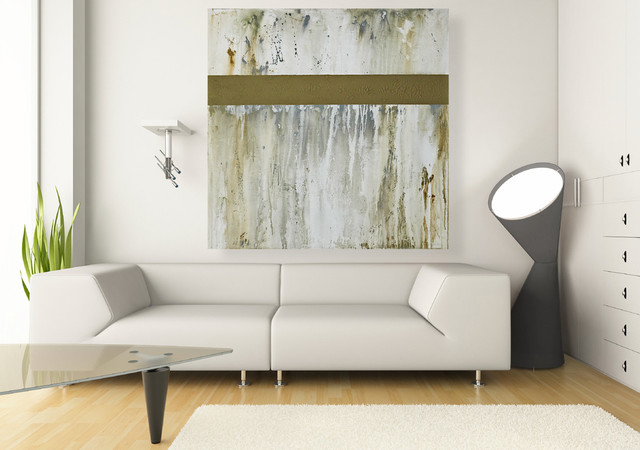 Large wall art original 40x40 inch neutral abstract for Best brand of paint for kitchen cabinets with hanging canvas wall art