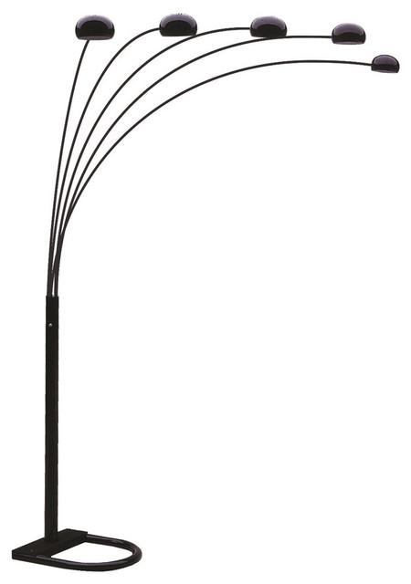 spectrum black floor lamp contemporary floor lamps los angeles. Black Bedroom Furniture Sets. Home Design Ideas