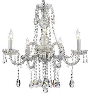 Swarovski Crystal Trimmed Authentic All Crystal Chandelier