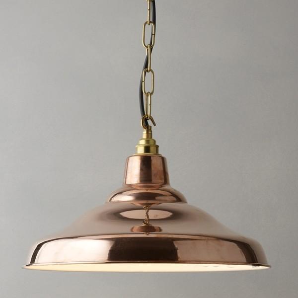 Davey Factory Ceiling Light, Copper