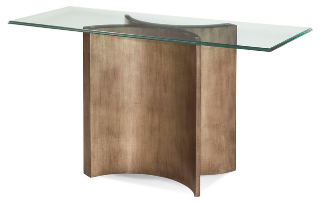 Mirror thoroughly modern symmetry console table contemporary console