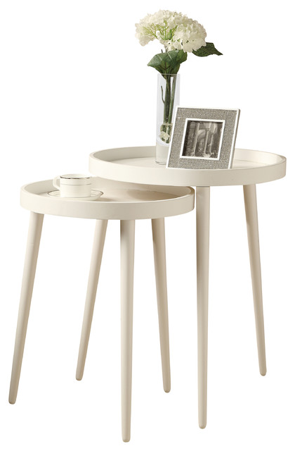 Contemporary Side Table : Tables, Set of 2, White - Contemporary - Side Tables And End Tables ...