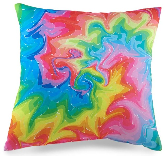 Swirl 18 x 18 Pillow (Indoor/Outdoor) - Contemporary - Decorative Pillows - by Zeckos