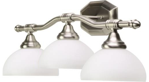 Decorative Vanity Fixture, Brushed Nickel - Modern - Bathroom Vanity Lighting - by BuilderDepot ...