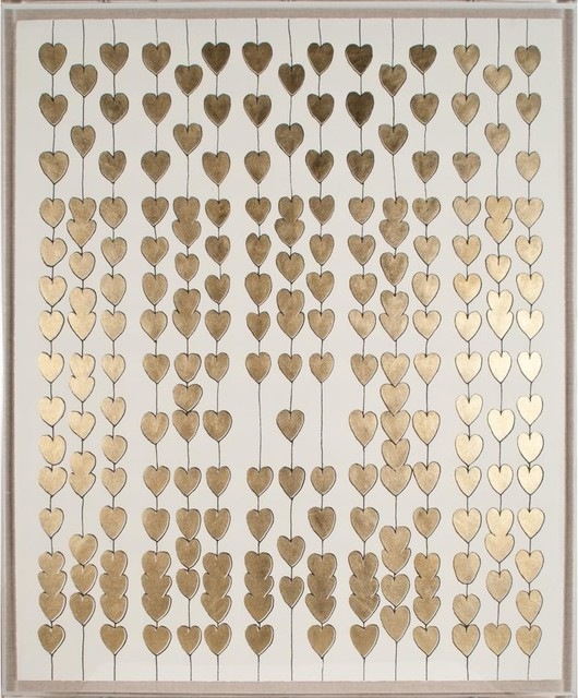 Natural Curiosities Cartier Heart Strings, Gold Leaf - Contemporary - Artwork - by Candelabra