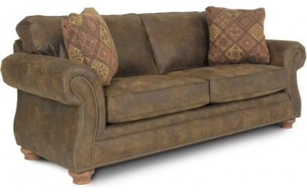 TEXAS BROWN QUEEN SLEEPER SOFA Rustic Sofas houston by GALLERY FURNITURE