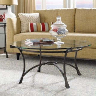 Hammary Sutton Round Glass Top Coffee Table Traditional Coffee Tables By Hayneedle