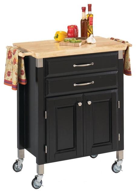 Dolly Madison Kitchen Cart, Black