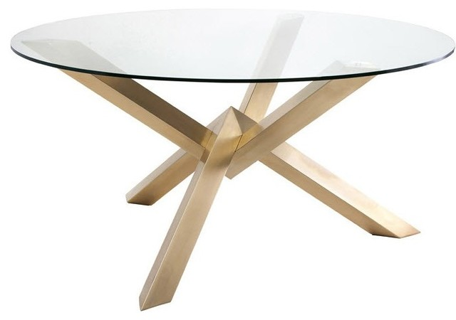 Costa Dining Table Gold Modern Dining Tables By In Mode