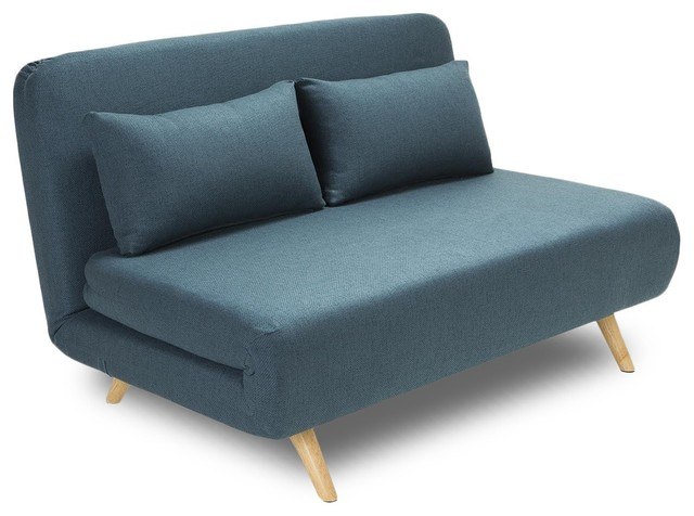 Canap convertible modulable 2 places john couleur bleu p trole scandinave - Canape lit convertible 2 places ...