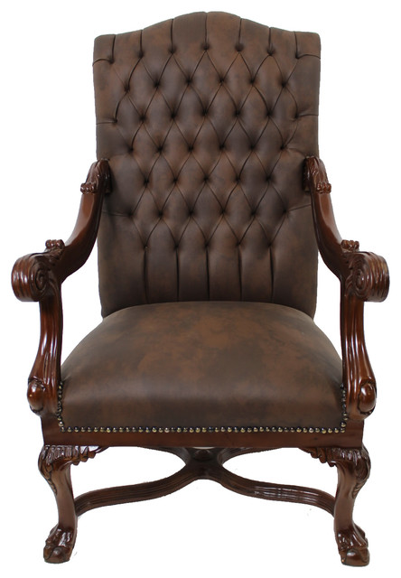 Executive Chippendale Chair Traditional Armchairs And