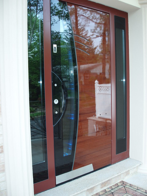 High end exterior interior doors queens ny modern High end front doors