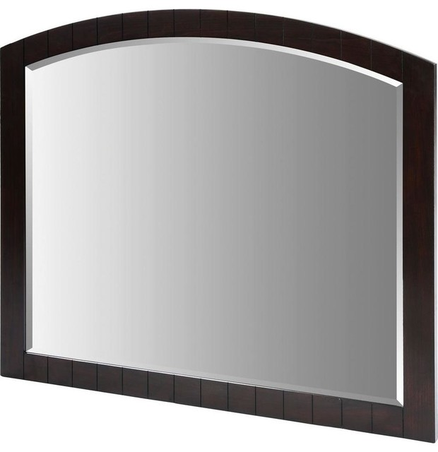 Capri Framed Wall Mirror Dark Espresso 42 X 48 Contemporary Bathroom Mirrors