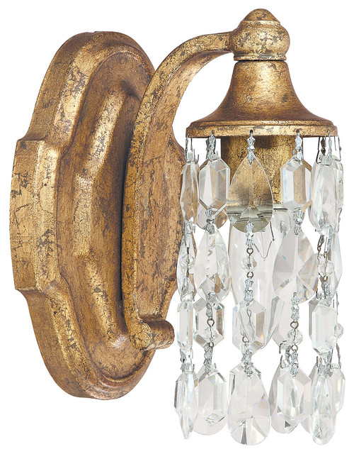 Capital Lighting 8521AG CR Blakely 1 Light Sconce Antique Gold Victorian