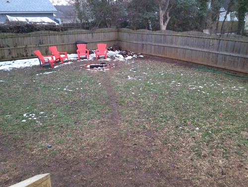 Landscaping Muddy Yard : Unwanted dog paths need landscaping solution