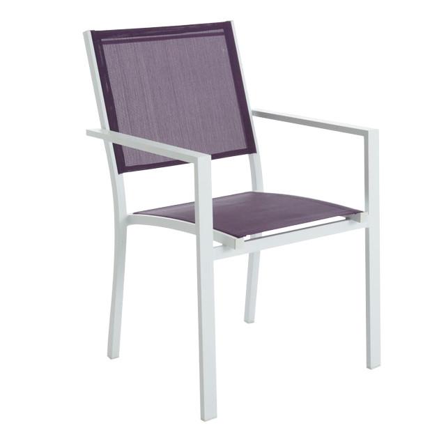 fauteuil de jardin en m tal atlantis violet contemporain chaise de jardin par castorama. Black Bedroom Furniture Sets. Home Design Ideas