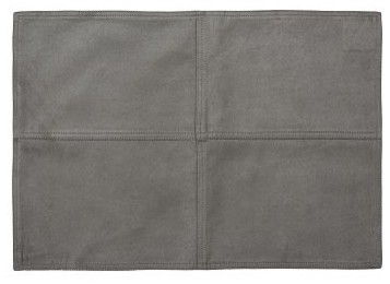 Faux Suede Place Mat Metal Gray Traditional Placemats