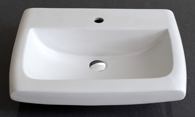 Roma Semi Recessed Ceramic Basin Contemporary Bathroom Sinks Other Metro By Nova Deko