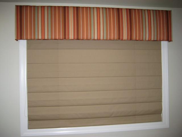 Roman Shade With Cornice Box Modern Window Treatments