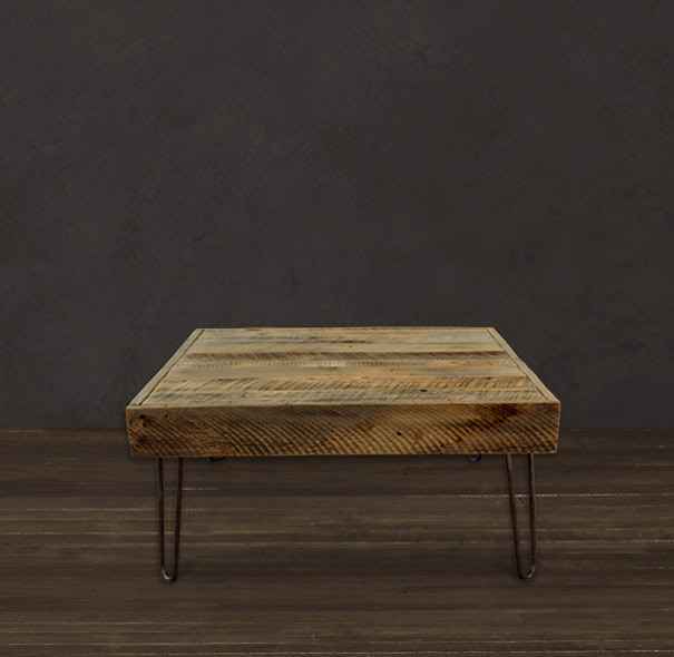Reclaimed Wood Square Coffee Table - Modern - Coffee Tables - denver - by JW Atlas Wood Co.