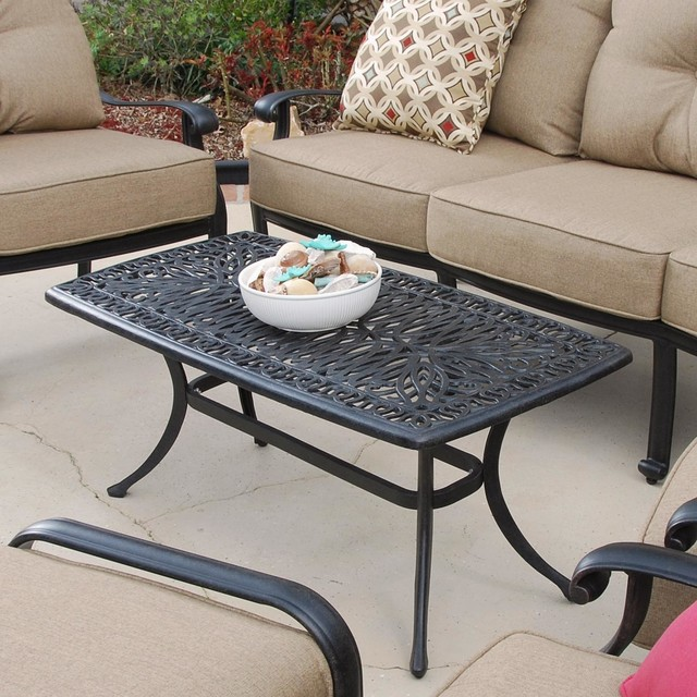 Rosedown Cast Aluminum Patio Coffee Table