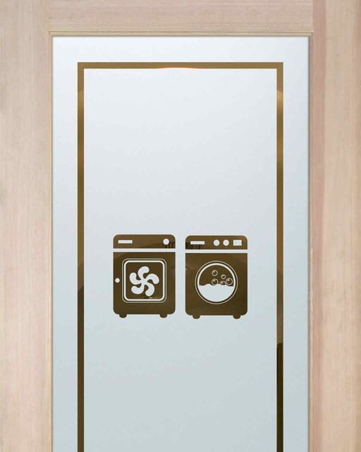 Laundry Room Doors - Washer Dryer - Eclectic - Other - by Sans Soucie Art Glass