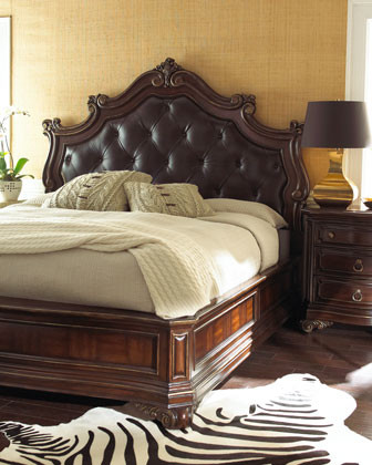 king bedroom set with leather headboard 1