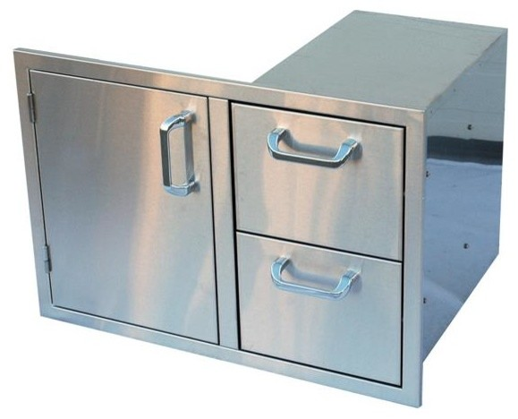 Outdoor Great Room Outdoor Kitchen Door And Two Drawers Contemporary Grill Tools