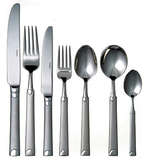 Oneida Cirrus 112pc 16 Person Cutlery Suite Contemporary Flatware And Silverware Sets By