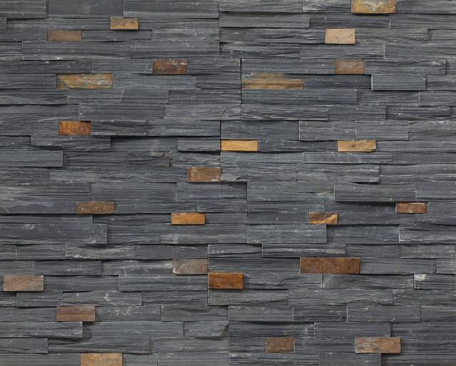 Realstone charcoal ledgestone siding and stone veneer for Exterior ledgestone