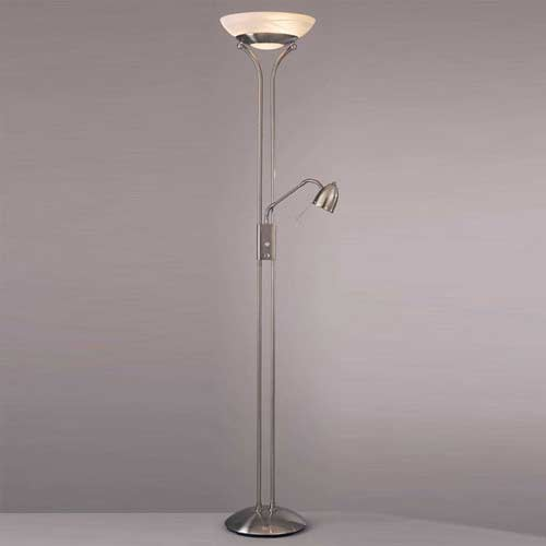 Reading room torchiere floor lamp contemporary floor for Contemporary torchiere floor lamps