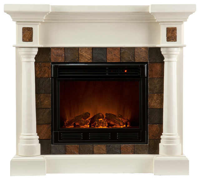 Southern Enterprises Carrington Convertible Electric Fireplace Traditional Indoor Fireplaces