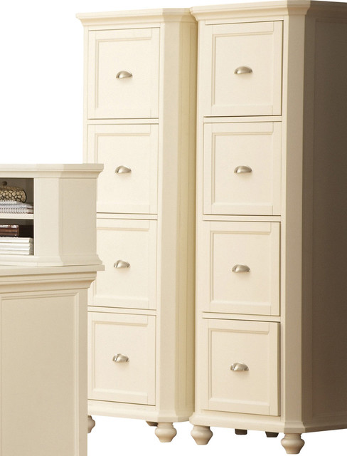 ... Hanna 4-Drawer File Cabinet in White traditional-filing-cabinets