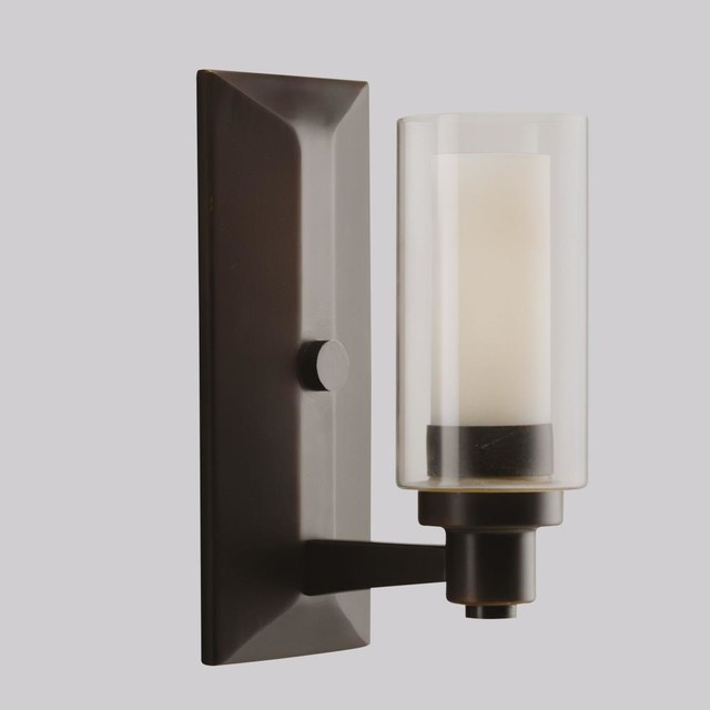 Bathroom Wall Vanity Lights : Kichler Lighting - 6144OZ - Circolo - One Light Wall Sconce - Contemporary - Bathroom Vanity ...