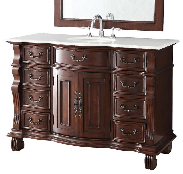 "Old World Bathroom Vanities: 50"" Old World Hopkinton Bathroom Sink Vanity Cabinet GD"