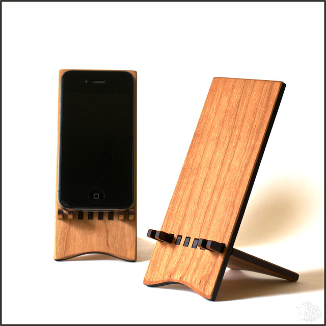 Iphone Stand Natural Modern Desk Accessories
